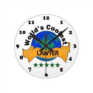World's Coolest Lawyer Round Clock