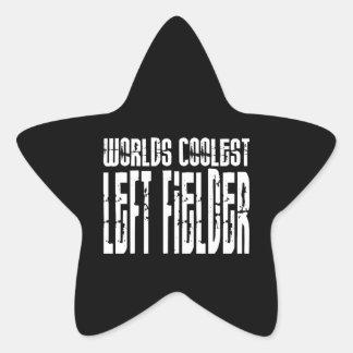 Worlds Coolest Left Fielder Star Sticker