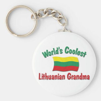 World's Coolest Lithuanian Grandma Basic Round Button Keychain