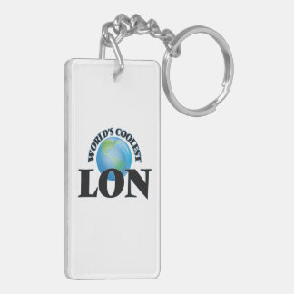 World's Coolest Lon Rectangle Acrylic Key Chain