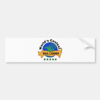 World's Coolest Mail Carrier Bumper Sticker