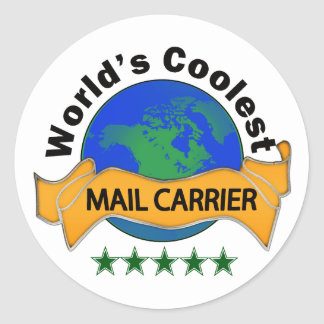World's Coolest Mail Carrier Classic Round Sticker