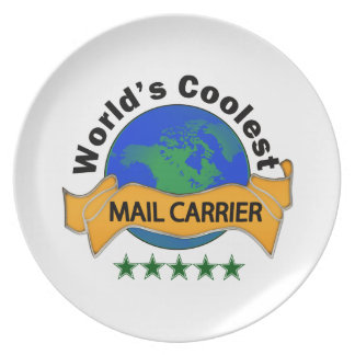 World's Coolest Mail Carrier Plate