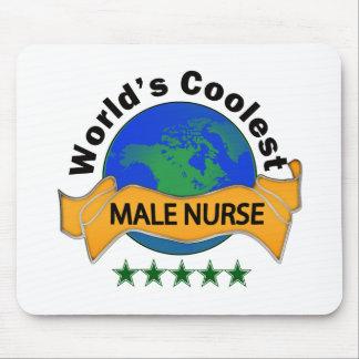 World's Coolest Male Nurse Mouse Pad