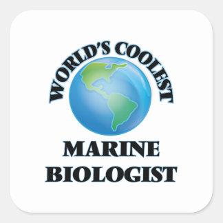 World's coolest Marine Biologist Square Sticker