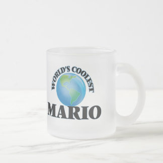 World's Coolest Mario Frosted Glass Coffee Mug