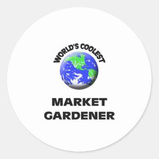 World's Coolest Market Gardener Sticker