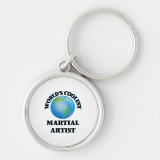 World's coolest Martial Artist Silver-Colored Round Keychain