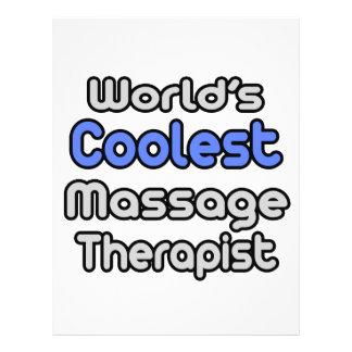 World's Coolest Massage Therapist Flyer