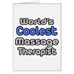 World's Coolest Massage Therapist Greeting Cards