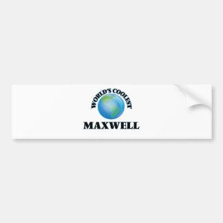 World's Coolest Maxwell Car Bumper Sticker