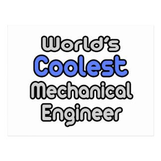 World's Coolest Mechanical Engineer Postcard