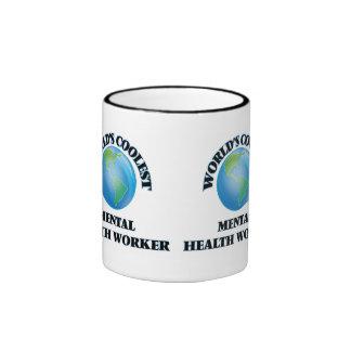 World's coolest Mental Health Worker Ringer Mug