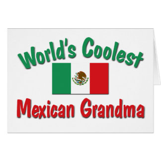 World's Coolest Mexican Grandma Card