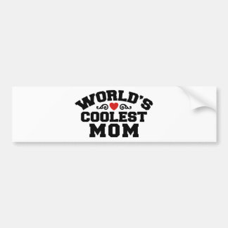 World's Coolest Mom Bumper Sticker