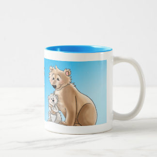World's Coolest Mom - Polar Bear Mom and Cub Mugs