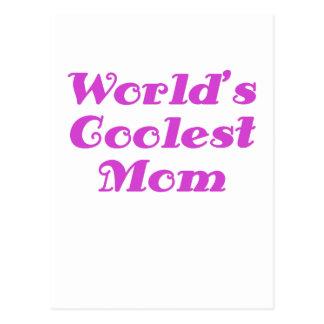 Worlds Coolest Mom Postcard