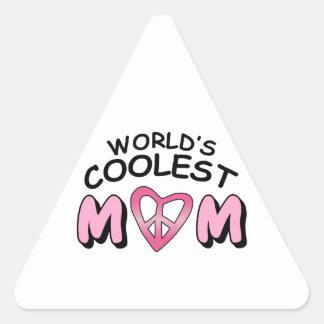WORLDS COOLEST MOM TRIANGLE STICKER