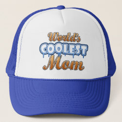 Trucker Hat with World's Coolest Mom design
