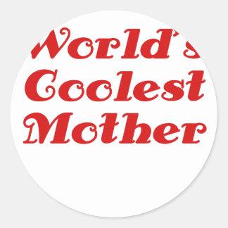 Worlds Coolest Mother Classic Round Sticker