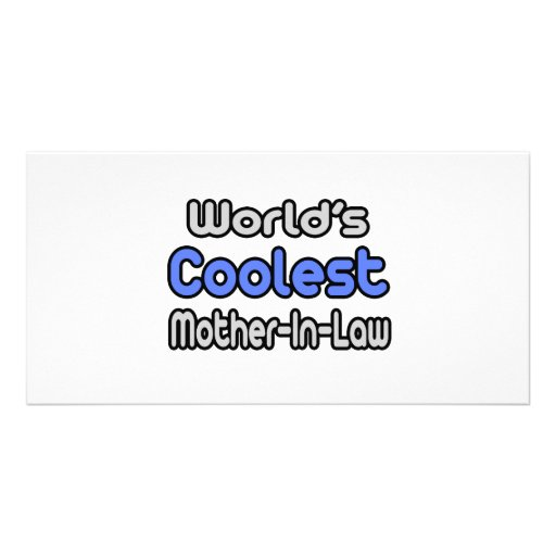 World's Coolest Mother-In-Law Personalized Photo Card