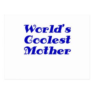 Worlds Coolest Mother Postcard