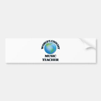 World's coolest Music Teacher Bumper Sticker