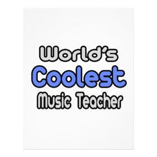 """World's Coolest Music Teacher 8.5"""" X 11"""" Flyer"""