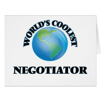 World's coolest Negotiator Greeting Cards