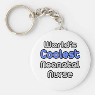 World's Coolest Neonatal Nurse Basic Round Button Keychain