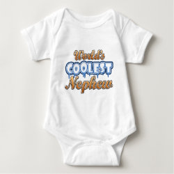 Baby Jersey Bodysuit with World's Coolest Nephew design