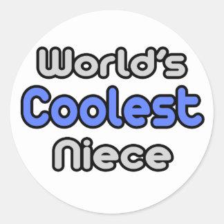 World's Coolest Niece Classic Round Sticker