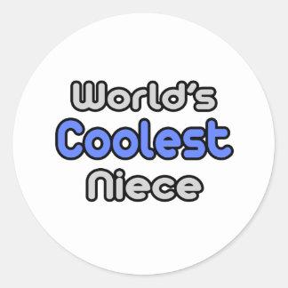 World's Coolest Niece Round Sticker
