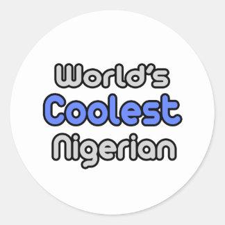 World's Coolest Nigerian Classic Round Sticker