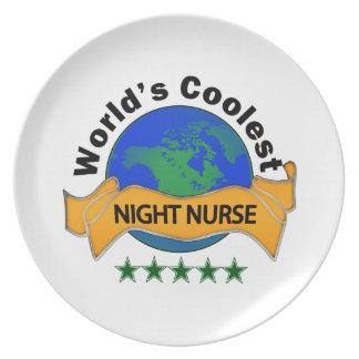 World's Coolest Night Nurse Melamine Plate