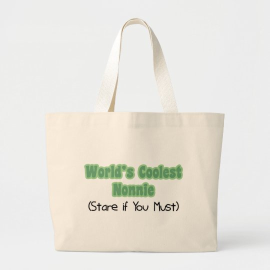 World's Coolest Nonnie Large Tote Bag