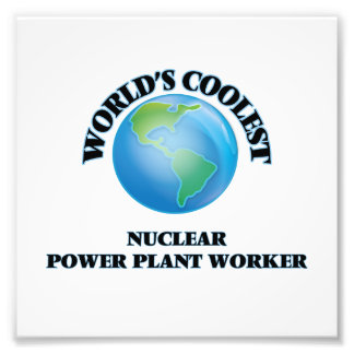 World's coolest Nuclear Power Plant Worker Photo Print