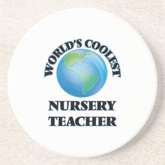 World's coolest Nursery Teacher Drink Coaster