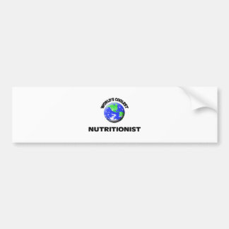 World's Coolest Nutritionist Car Bumper Sticker
