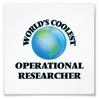 World's coolest Operational Researcher Photograph