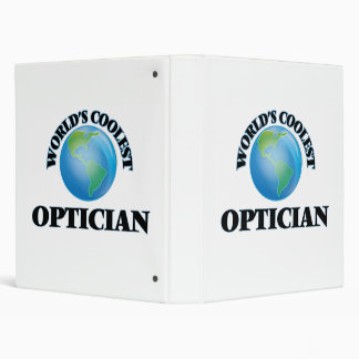 World's coolest Optician 3 Ring Binders