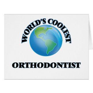 World's coolest Orthodontist Large Greeting Card