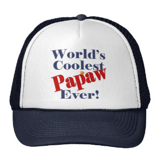 Worlds Coolest Papaw Ever Gift for Papaw Mesh Hat