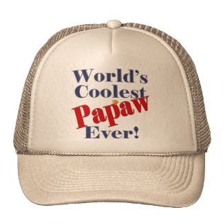 Worlds Coolest Papaw Ever Gift for Papaw Trucker Hats