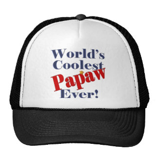 Worlds Coolest Papaw Ever Gift for Papaw Mesh Hats