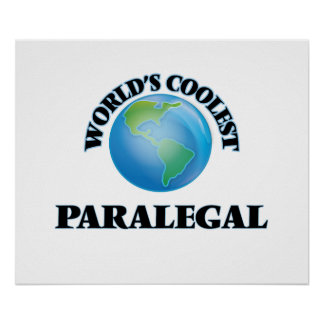 World's coolest Paralegal Poster