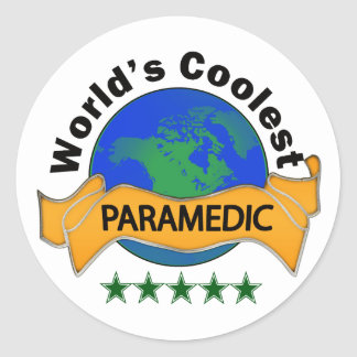 World's Coolest Paramedic Classic Round Sticker