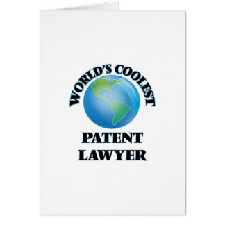 World's coolest Patent Lawyer Greeting Card