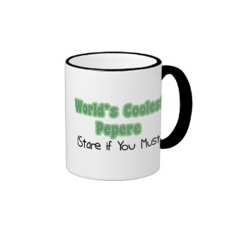 World's Coolest Pepere Ringer Coffee Mug