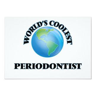 "World's coolest Periodontist 5"" X 7"" Invitation Card"